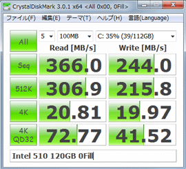 intel 510/120GB 0fill